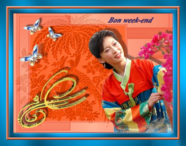 Ma création de juin 2014 Bon Week-End!
