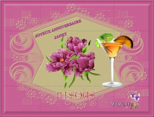 Kado pour mon amie Janet JOYEUX ANNIVERSAIRE !!