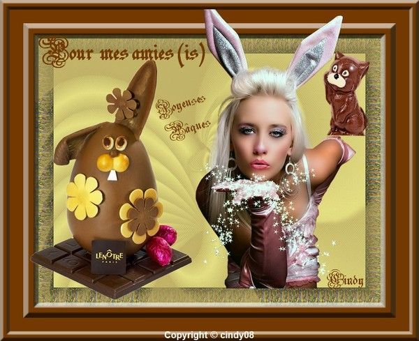 Ma création pour tous mes amies (is) Joyeuses Pâques